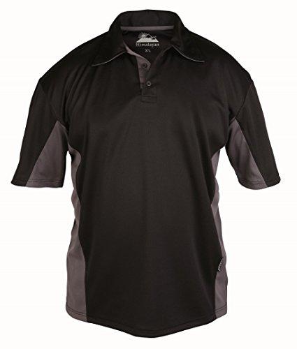 Himalaya-Herren Zephyr Polo schwarz / grau