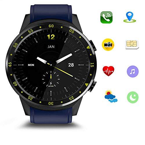 Vollständige Netzwerk-Smartwatch, integriertes GPS-Bewegungsverfolgungssystem und wasserdichte IP68-Fernkamera mit Herzfrequenzüberwachung unterstützen SIM-Bluetooth und andere Geräte,Blue 363 Gps