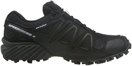 Salomon Speedcross 4, Chaussures de Trail Femme Schwarz (Schwarz/Schwarz/Schwarz-Metallik)