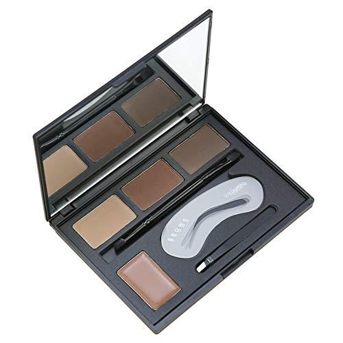 gfjfghfjfh 4 Farbe langlebig wasserdicht Augenbrauencreme Puder Gesichts Make-up Augenbrauenpuder mit Augenbrauenbürsten Pinzette