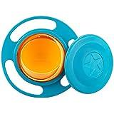 sztara Funny Spielzeug Baby trainieren Geschirr 360Dgree Rotation auslaufsicher Gyroskop Schüssel Flying Disk Schalen mit Deckel grün und orange
