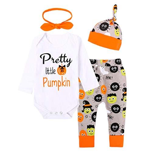 (NPRADLA 2018 Neugeborenen Baby Mädchen Brief Strampler Tops + Hosen Halloween Outfits Kleidung Set)