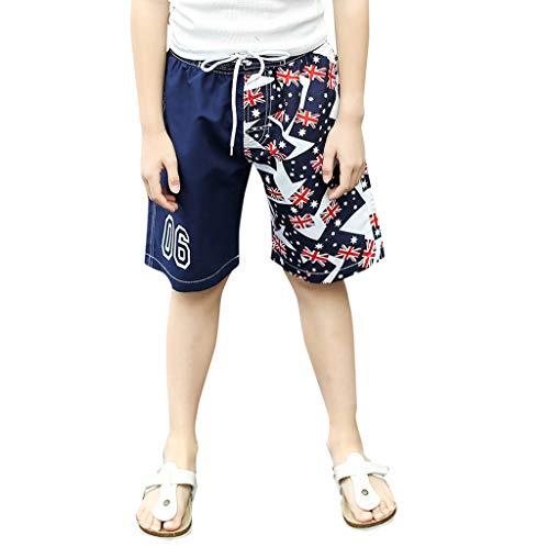 i-uend Kinder Boy Shorts Shorts Kleinkind Jungen amerikanische Flagge Print Hosen Kinder Patchwork Swim 4. Juli Trunk Badebekleidung Shorts USA Swim Trunk Für Unabhängigkeitstag