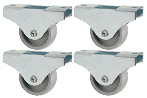 Preisvergleich Produktbild Rollen 38mm Nylon fix Rollen - 4 Stk. - Low-Level-Rollen, Rad für Schubladen