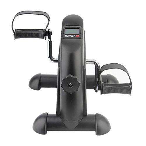 Blackpoolal Mini Bike Arme und Beintrainer Hometrainer Heimtrainer Trimmrad Fahrradtrainer Fitness-Fahrrad Heimfahrrad Trainingsrad Exercise Trainer Pedaltrainer mit LCD-Monitor Indoor Cycle (Schwarz) -