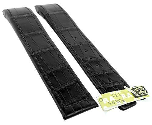 Maurice Lacroix Masterpiece Tonneau Ersatzband 21mm Echt Louisiana Krokoleder schwarz matt 22901