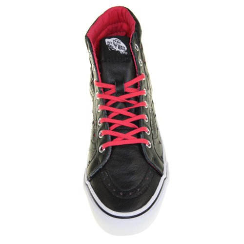 Vans Sk8-Hi Slim Leather Perf Hearts noir rouge Schwarz