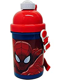 Marvel Ultimate Spiderman Pop Up Botella, 400 ml, Multicolor