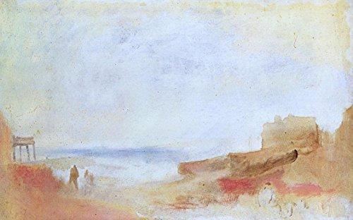 Das Museum Outlet-Coast Szene mit Gebäuden, 1840-45-A3Poster