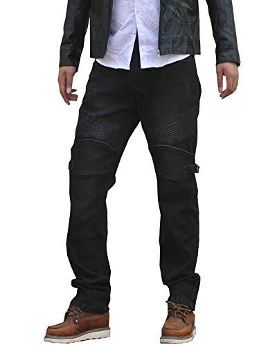 GELing Pantaloni Moto Tessuto Cordura Impermeabile Sfoderabile Termico Uomo,Nero,3XL