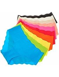 La Isla Femme Pack de 6 Culotte Sans Couture Taille Basse Invisible Panty
