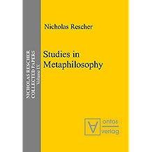 Studies in Metaphilosophy