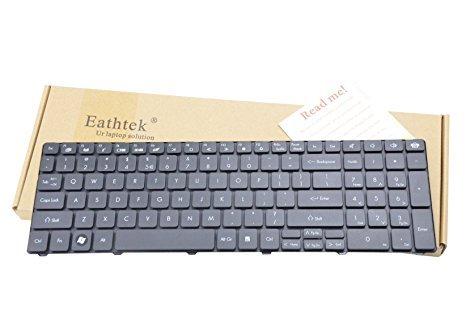 Eathtek Ersatz Tastatur für Gateway NV53A05u NV53A11u NV53A24U NV53A32u NV53A33u NV53A36u NV53A52u Serie Schwarz US Layout (Tastatur Nv53 Gateway)