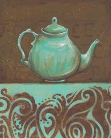 Fusion Scrolls (Tea Fusion I Von Osborne, Susan Kunstdruck auf Leinwand - Klein (47 x 60 cms ))