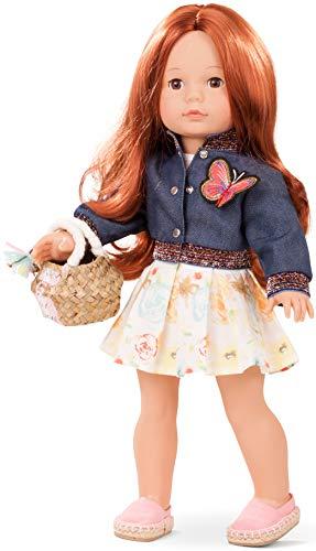 Götz 1890304 Precious Day Girls Julia Macaron Puppe - 46 cm große Stehpuppe, braune lange Haare, braune Schlafaugen - 6-teiliges Set