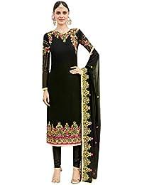 ETHNIC EMPORIUM Black Salwar Kameez Vestido de Mujer musulmán de la India Bollywood Shalwar Rakhi Eid