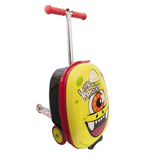 ItsImagical- Flyte Scooter & Case Monster Monopattino con Zaino, Colore Giallo, 89354