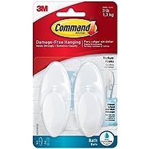 Command - Gancho baño mediano, gama Blanca