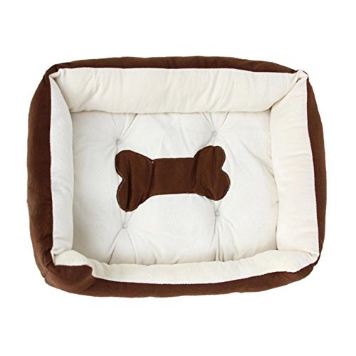 Foru-1 Haustierbett, Knochenform, Bedruckt, Matratze für Hunde und Katzen -