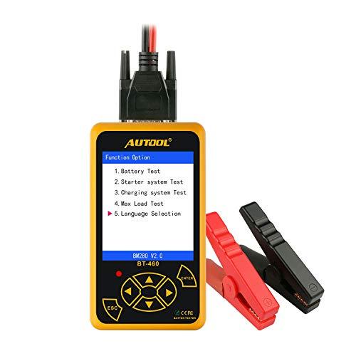 LYDZ-Automotive BT-460 Batterie Tester Bleisäure AGM Gel Batterie Cell Analyzer für 12 V Fahrzeug 24 V Heavy Duty 4 \'\' TFT Bunte Display Autozubehör