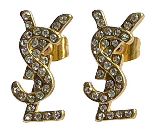 Elegante Ohrringe - Gold/Silber/Kristallvariationen (Goldkristall, Unedles Metall)
