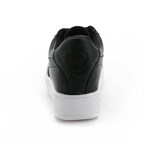 Damen Basketballschuhe Profilsohle Sneakers Bequeme Sportschuhe Schwarz