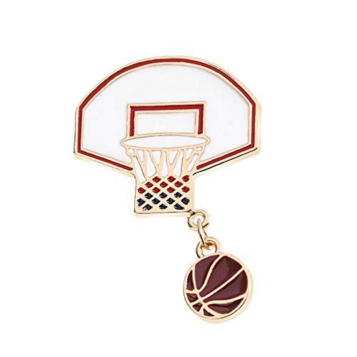 Basketball Box Kleid Brosche, Pins für Jacken Unisex Brosche Elegante Party Mode Legierung Gemalt Schmuck für Frauen ()