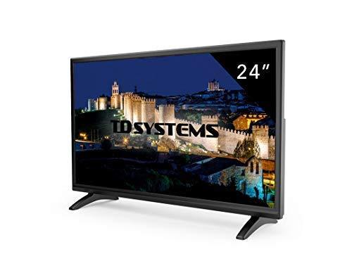 Televisor Led 24 Pulgadas Full HD, TD Systems K24DLM7F. Resolución 1920 x 1080, HDMI, VGA, USB Reproductor y Grabador.