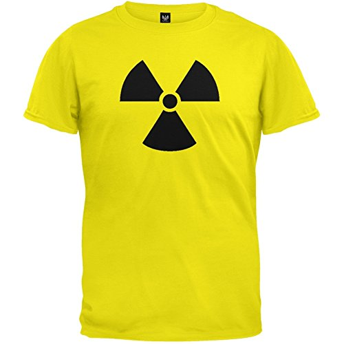 Mens Yellow Radiation Symbol T-shirt - S to XXL