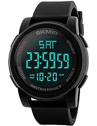 94d6121ec20 SKMEI Simple Digital Men s Military Watches Waterproof Electronic LED  Double Time Black Wristwatch Sport