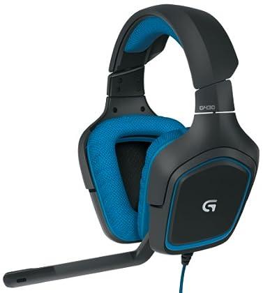 Logitech G430 Binaural Diadema Negro, Azul auri...