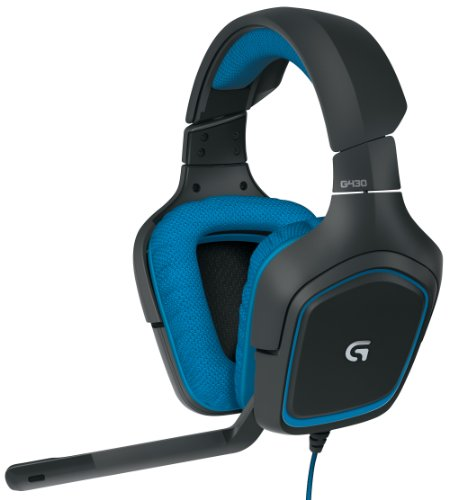 Logitech Logitech G430 Surround Sound Gaming Headset with Dolby 7.1 Technology Bouchon d'oreille, 36 cm, Blanc (White)