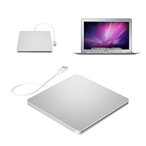 VicTop External Slot-in USB CD RW Drive Burner Superdrive DVD-R Player for Apple MacBook Pro Air iMAC Windows 10 8.1 and other Laptop Tablet Test
