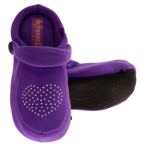 Footwear Studio, Pantofole donna Viola Diamante