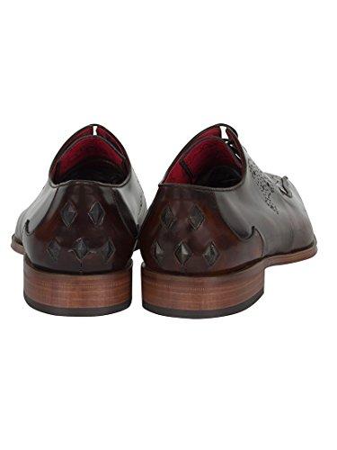 Jeffery West Homme Scarface poli Chaussures, Marron Marron