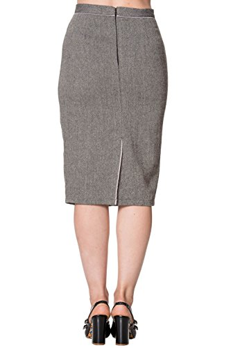 Dancing Days by Banned Bleistift-Rock IZZY PENCIL SKIRT 2190 Grey
