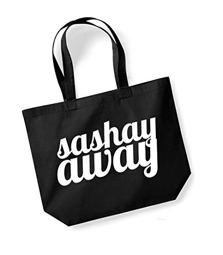 Sashay Away vs Shante You Stay - Double Sided - Large Canvas Fun Slogan Tote Bag Black/White