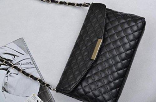 Regalo di festival, Reasoncool Borsa a tracolla in pelle pochette borsetta borsa del Tote del Hobo Messenger Nero