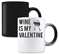 Idea Regalo - LukeTee Wine Is My Valentine This Year Tazza da tè Magic Tea