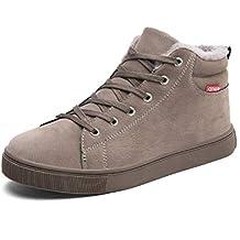 Hombres Zapatos De Invierno CóModo Correa De Tobillo Botas De Felpa CáLido Moda Hombre Corriente De