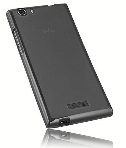 mumbi Schutzhülle für Wiko RIDGE 4G Hülle transparent schwarz (passt NICHT mit Ridge Fab)