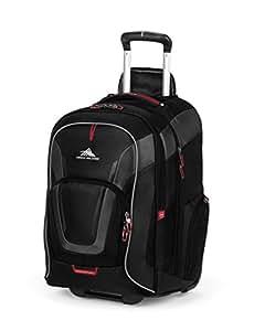 High Sierra AT7 Outdoor Wheeled Backpack, Black