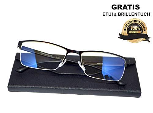 ★ SIAH Schutz vor PC Fernseher und Handy Bildschirmen ★ Jetzt Büro Blaulichtfilter Brille mit Metallrahmen holen - Steigere Deine Lebensqualität