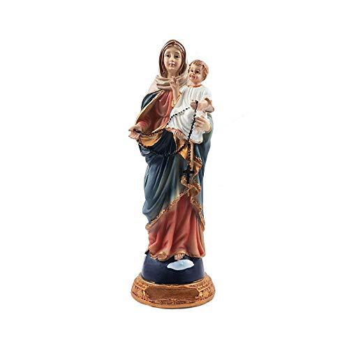 Santo personaje de la Virgen María con el niño Jesús figura decorativa de Madonna de Estatua de la madre de la Navidad