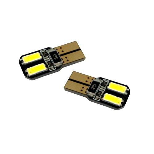 T10C4WS - Blanc Canbus SMD LED lampe ampoule de rechange feux de position W5W T10 12V 4 LED SMD éclairage de plaque d'immatriculation éclairage intérieur (pas d'erreur)