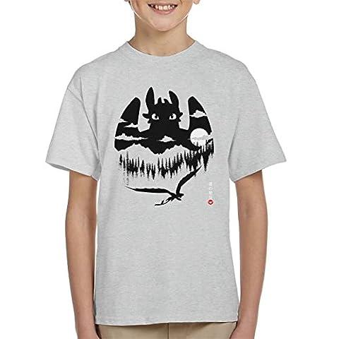 How To Train Dragon Night Fury Flying Kid's T-Shirt
