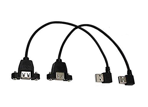 USB 2.0Verlängerung cable-cerrxian USB 2.0A Buchse Panel Mount auf USB A Stecker rechts + links Winkel Stecker Verlängerung CABLE125,4cm (USB f-r/L M)