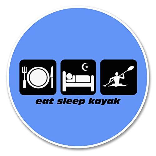 2x Eat Sleep Kajak vinyl Aufkleber Aufkleber Laptop Reise Gepäck Auto Ipad Schild Fun # 6207 - 10cm/100mm Wide
