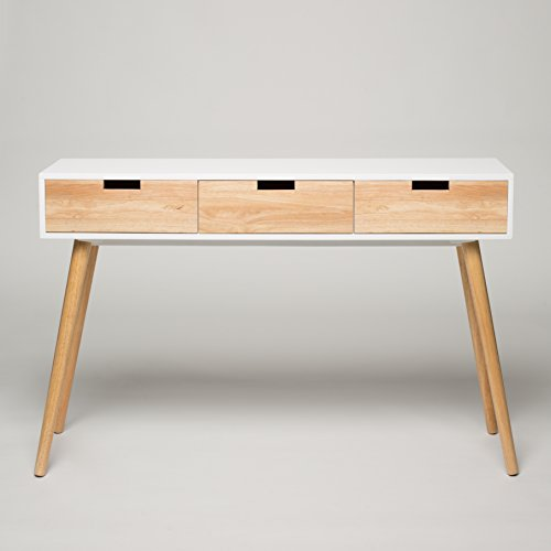 Console table white wood 120 x 30 x 80 cm dressing table for Table design 80 cm