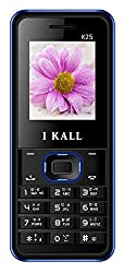 I KALL K25 1.8 Inch Display Dual Sim Mobile with Leather Back- Blue